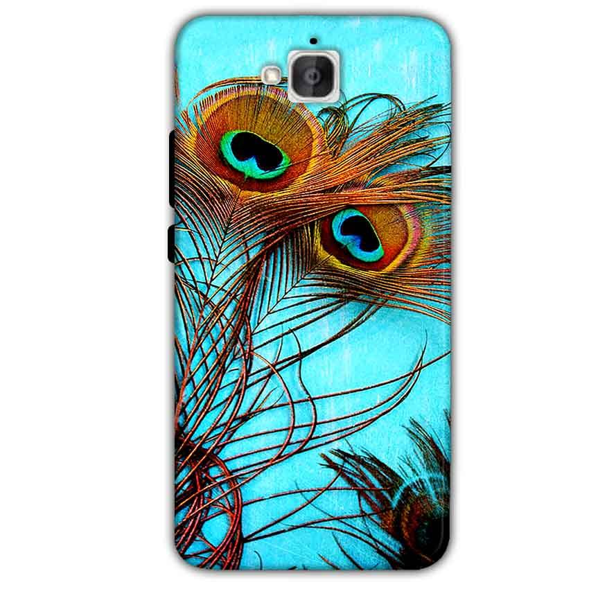 Huawei Honor Holly 2 Plus Mobile Covers Cases Peacock blue wings - Lowest Price - Paybydaddy.com
