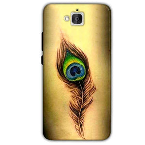 Huawei Honor Holly 2 Plus Mobile Covers Cases Peacock coloured art - Lowest Price - Paybydaddy.com