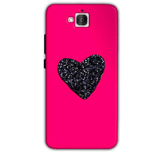 Huawei Honor Holly 2 Plus Mobile Covers Cases Pink Glitter Heart - Lowest Price - Paybydaddy.com