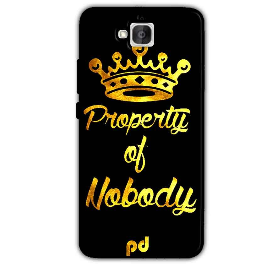Huawei Honor Holly 2 Plus Mobile Covers Cases Property of nobody with Crown - Lowest Price - Paybydaddy.com