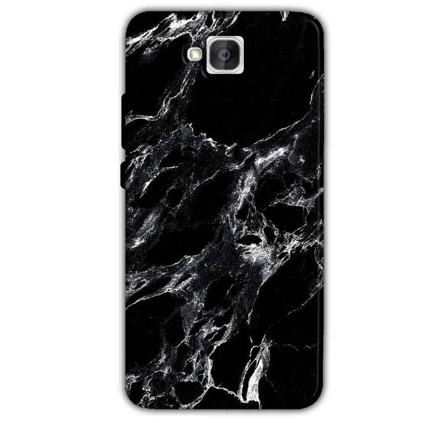 Huawei Honor Holly 2 Plus Mobile Covers Cases Pure Black Marble Texture - Lowest Price - Paybydaddy.com