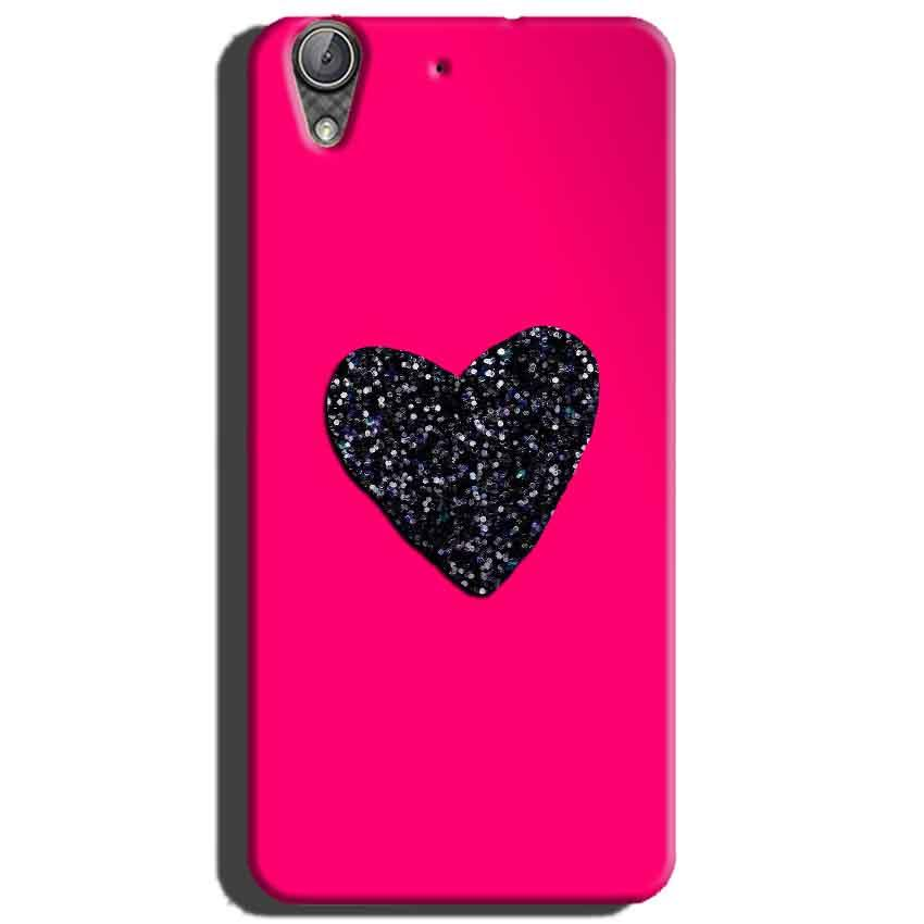 super popular 15ae3 fbf3f Huawei Honor Holly 3 Pink Glitter Heart Back Cover