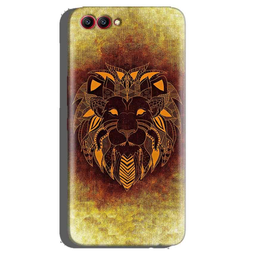 Huawei Honor View 10 Mobile Covers Cases Lion face art - Lowest Price - Paybydaddy.com