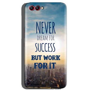 Huawei Honor View 10 Mobile Covers Cases Never Dreams For Success But Work For It Quote - Lowest Price - Paybydaddy.com