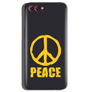 Huawei Honor View 10 Mobile Covers Cases Peace Blue Yellow - Lowest Price - Paybydaddy.com