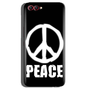 Huawei Honor View 10 Mobile Covers Cases Peace Sign In White - Lowest Price - Paybydaddy.com
