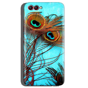Huawei Honor View 10 Mobile Covers Cases Peacock blue wings - Lowest Price - Paybydaddy.com