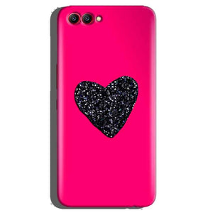 Huawei Honor View 10 Mobile Covers Cases Pink Glitter Heart - Lowest Price - Paybydaddy.com