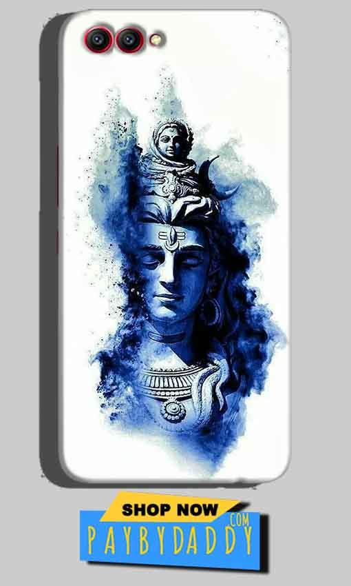 Huawei Honor View 10 Mobile Covers Cases Shiva Blue White - Lowest Price - Paybydaddy.com