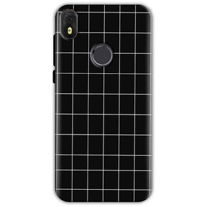 Infinix Hot S3 Mobile Covers Cases Black with White Checks - Lowest Price - Paybydaddy.com