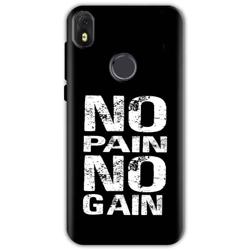 Infinix Hot S3 Mobile Covers Cases No Pain No Gain Black And White - Lowest Price - Paybydaddy.com
