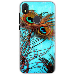 Infinix Hot S3 Mobile Covers Cases Peacock blue wings - Lowest Price - Paybydaddy.com