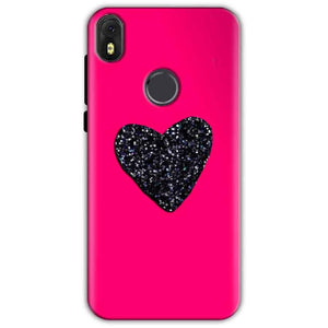 Infinix Hot S3 Mobile Covers Cases Pink Glitter Heart - Lowest Price - Paybydaddy.com