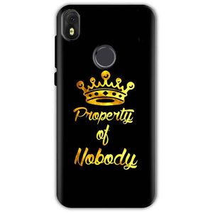 Infinix Hot S3 Mobile Covers Cases Property of nobody with Crown - Lowest Price - Paybydaddy.com