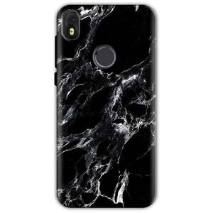 Infinix Hot S3 Mobile Covers Cases Pure Black Marble Texture - Lowest Price - Paybydaddy.com