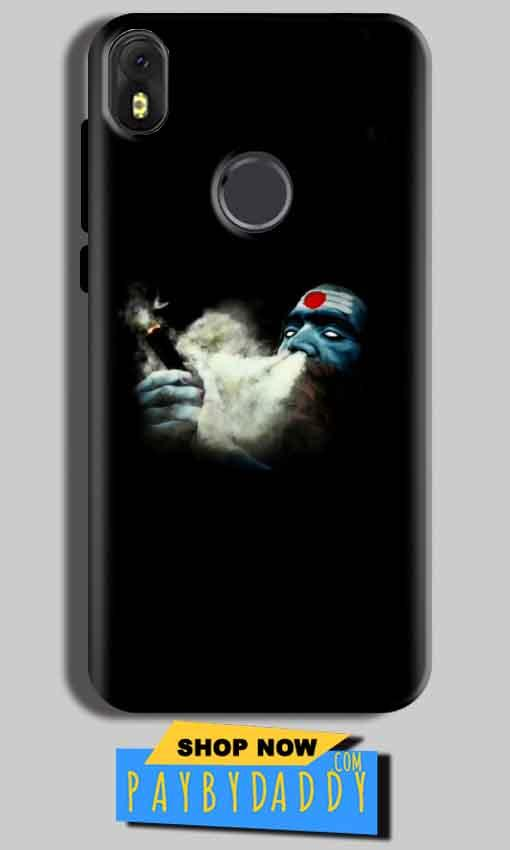 Infinix Hot S3 Mobile Covers Cases Shiva Aghori Smoking - Lowest Price - Paybydaddy.com