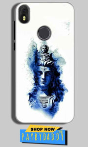 Infinix Hot S3 Mobile Covers Cases Shiva Blue White - Lowest Price - Paybydaddy.com