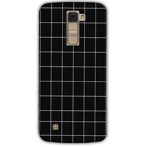 LG K10 K430DSY Mobile Covers Cases Black with White Checks - Lowest Price - Paybydaddy.com