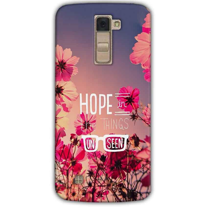 LG K10 K430DSY Mobile Covers Cases Hope in the Things Unseen- Lowest Price - Paybydaddy.com