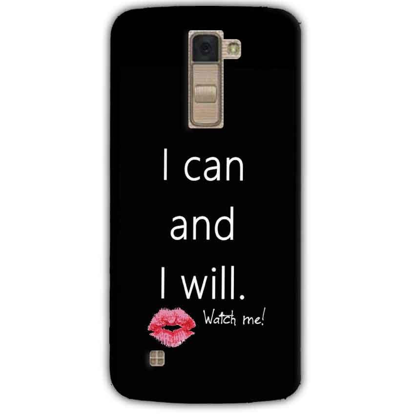 LG K10 K430DSY Mobile Covers Cases i can and i will Lips - Lowest Price - Paybydaddy.com
