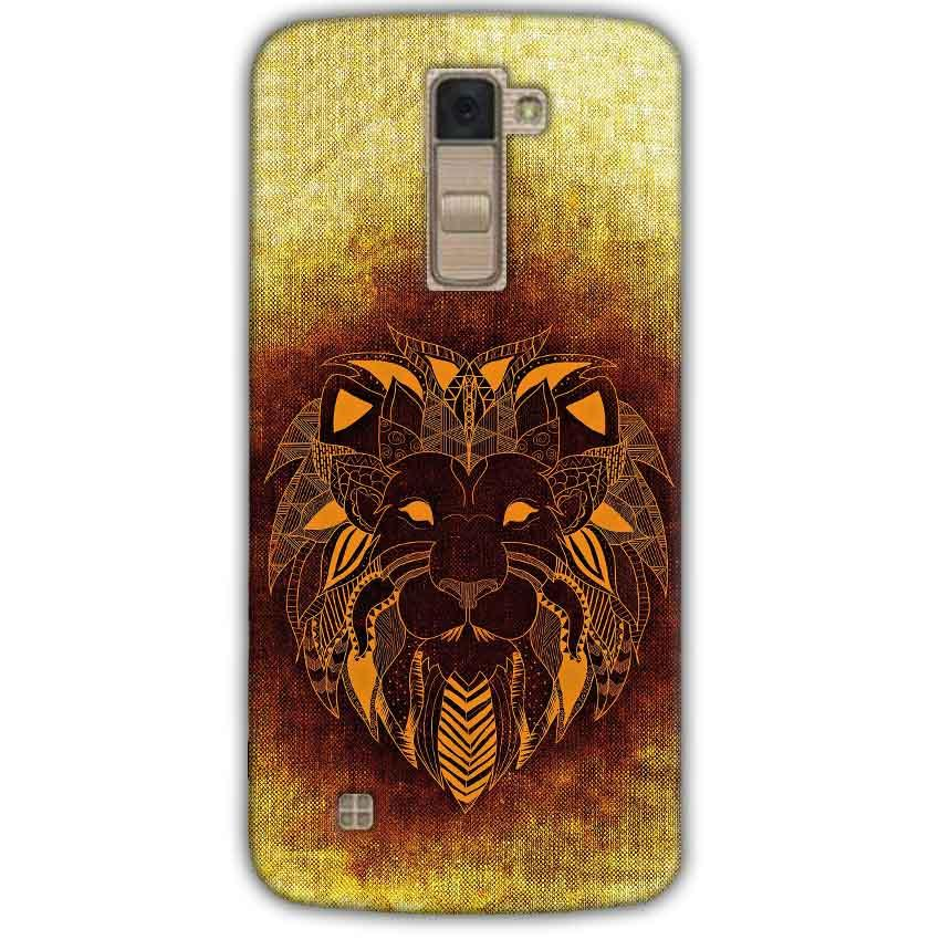 LG K10 K430DSY Mobile Covers Cases Lion face art - Lowest Price - Paybydaddy.com