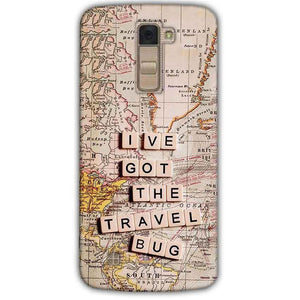 LG K10 K430DSY Mobile Covers Cases Live Travel Bug - Lowest Price - Paybydaddy.com