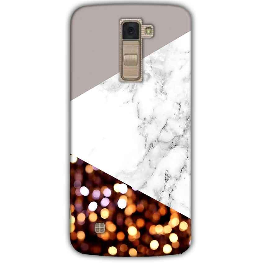 LG K10 K430DSY Mobile Covers Cases MARBEL GLITTER - Lowest Price - Paybydaddy.com
