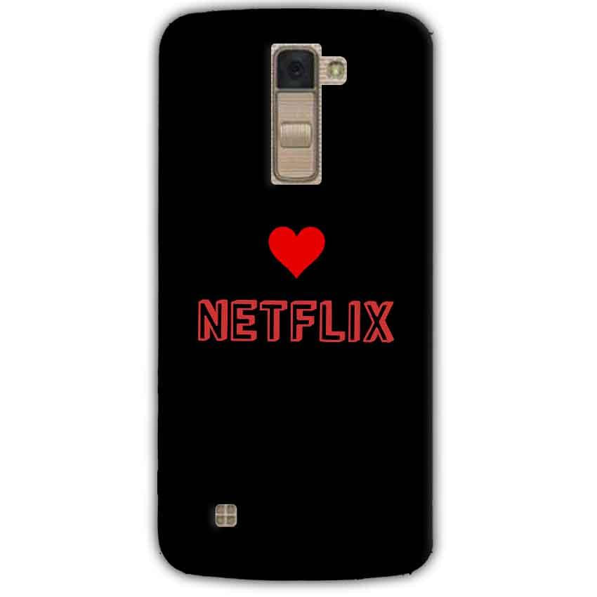 LG K10 K430DSY Mobile Covers Cases NETFLIX WITH HEART - Lowest Price - Paybydaddy.com