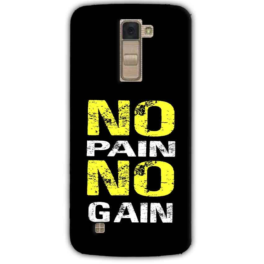 LG K10 K430DSY Mobile Covers Cases No Pain No Gain Yellow Black - Lowest Price - Paybydaddy.com