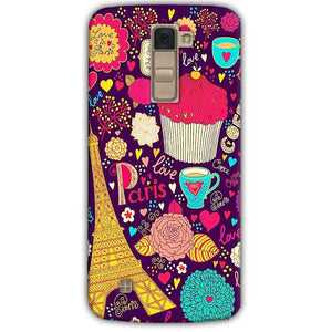 LG K10 K430DSY Mobile Covers Cases Paris Sweet love - Lowest Price - Paybydaddy.com