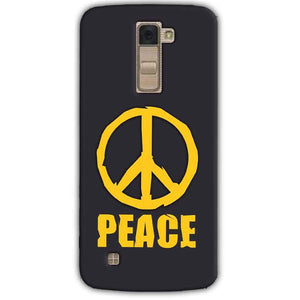 LG K10 K430DSY Mobile Covers Cases Peace Blue Yellow - Lowest Price - Paybydaddy.com