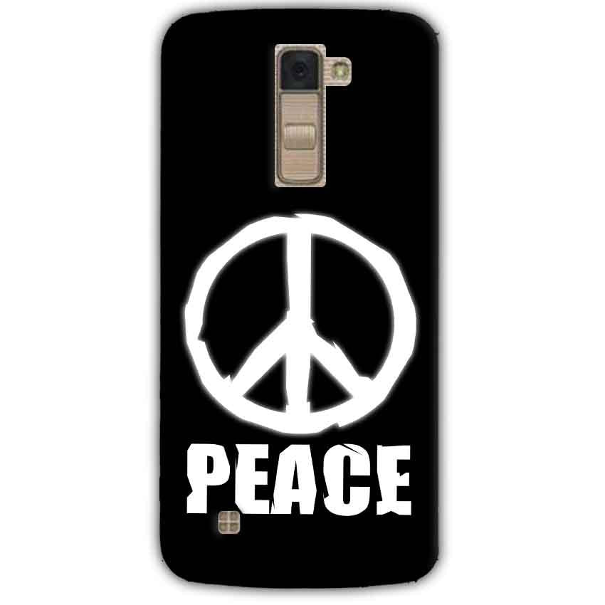 LG K10 K430DSY Mobile Covers Cases Peace Sign In White - Lowest Price - Paybydaddy.com