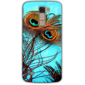 LG K10 K430DSY Mobile Covers Cases Peacock blue wings - Lowest Price - Paybydaddy.com
