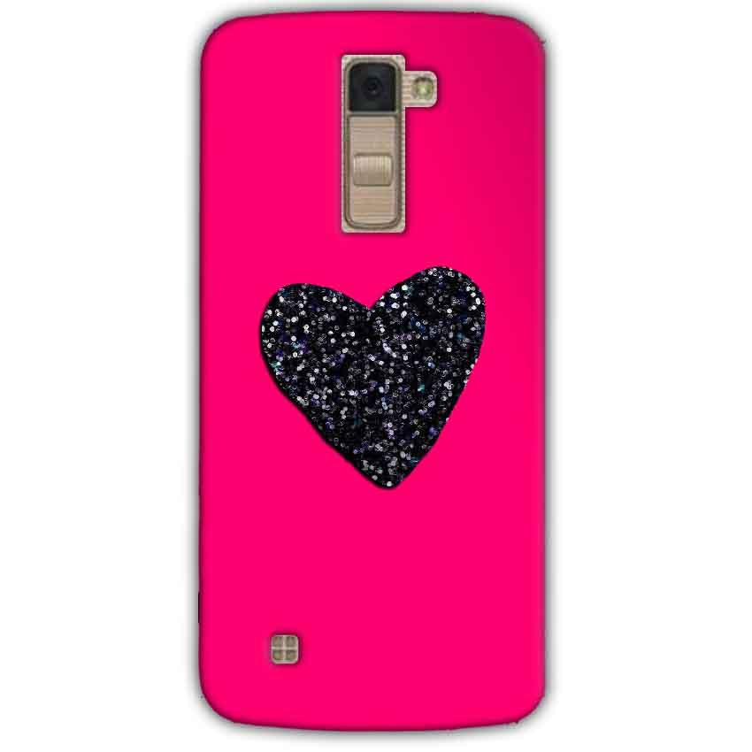 LG K10 K430DSY Mobile Covers Cases Pink Glitter Heart - Lowest Price - Paybydaddy.com