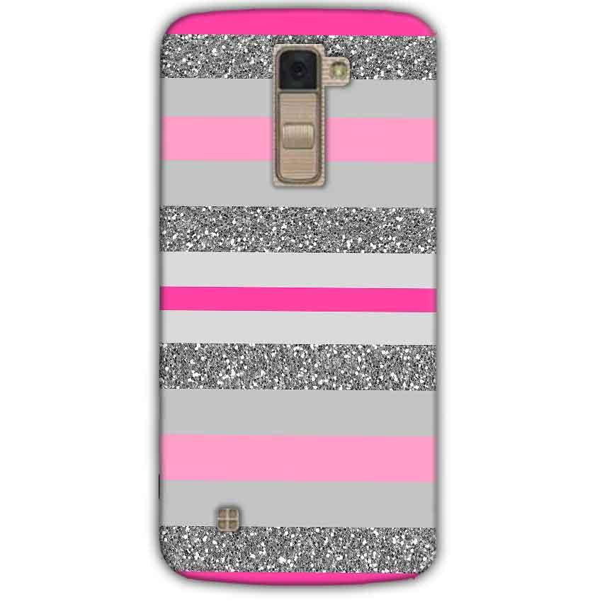 LG K10 K430DSY Mobile Covers Cases Pink colour pattern - Lowest Price - Paybydaddy.com