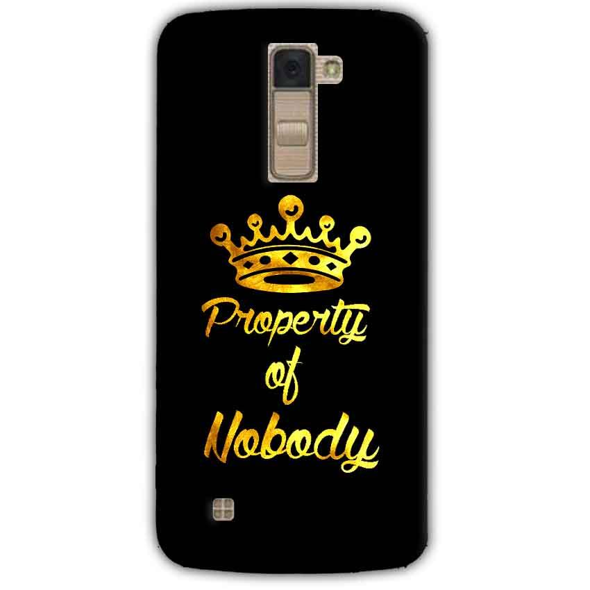 LG K10 K430DSY Mobile Covers Cases Property of nobody with Crown - Lowest Price - Paybydaddy.com