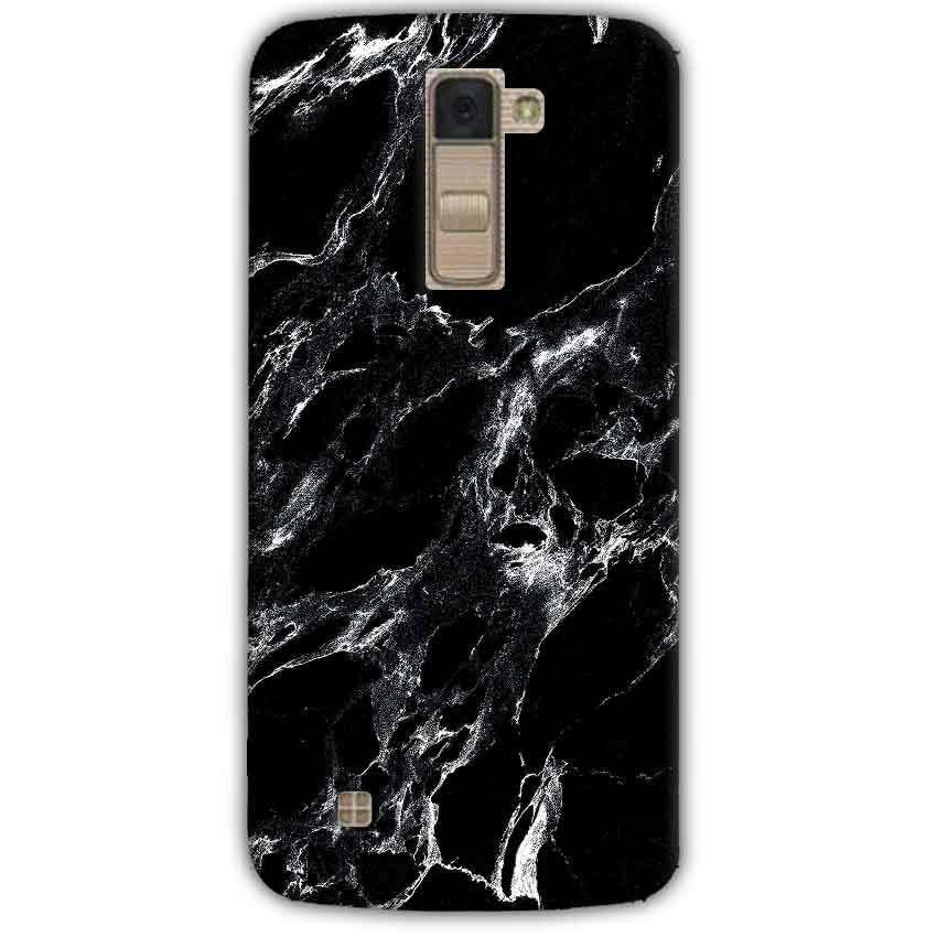 LG K10 K430DSY Mobile Covers Cases Pure Black Marble Texture - Lowest Price - Paybydaddy.com