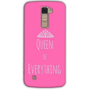 LG K10 K430DSY Mobile Covers Cases Queen Of Everything Pink White - Lowest Price - Paybydaddy.com