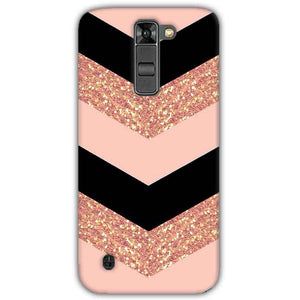 LG K7 Mobile Covers Cases Black down arrow Pattern - Lowest Price - Paybydaddy.com