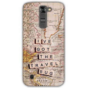 LG K7 Mobile Covers Cases Live Travel Bug - Lowest Price - Paybydaddy.com