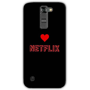 LG K7 Mobile Covers Cases NETFLIX WITH HEART - Lowest Price - Paybydaddy.com