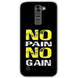 LG K7 Mobile Covers Cases No Pain No Gain Yellow Black - Lowest Price - Paybydaddy.com
