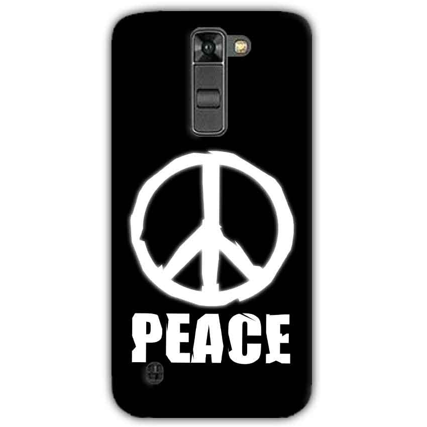 LG K7 Mobile Covers Cases Peace Sign In White - Lowest Price - Paybydaddy.com