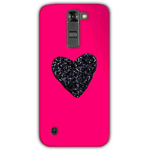 LG K7 Mobile Covers Cases Pink Glitter Heart - Lowest Price - Paybydaddy.com