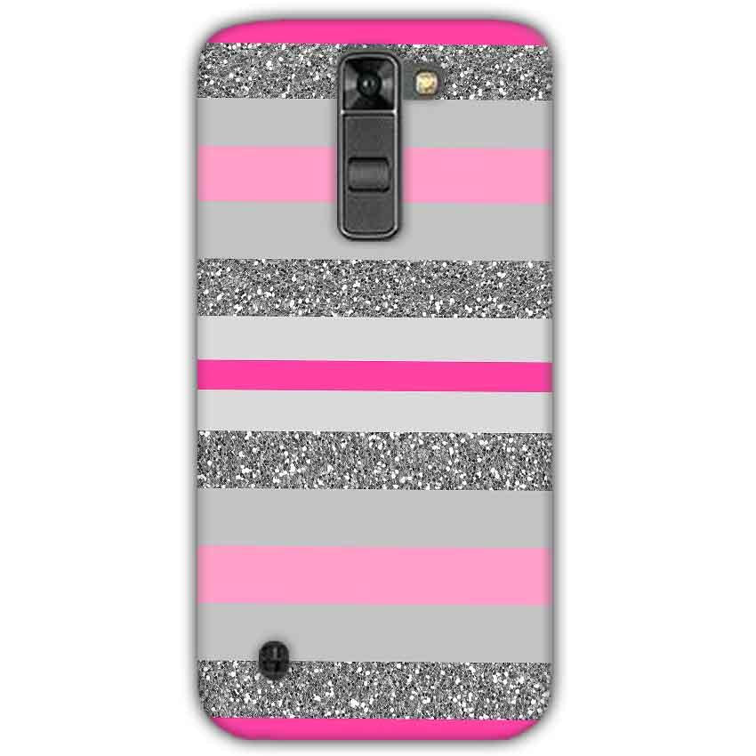 LG K7 Mobile Covers Cases Pink colour pattern - Lowest Price - Paybydaddy.com