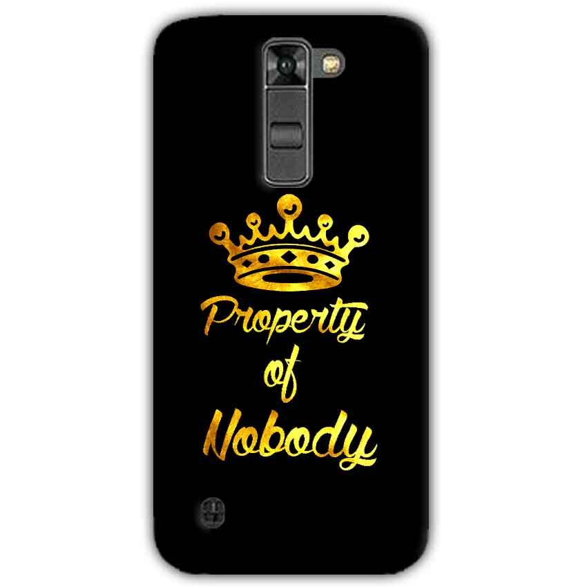 LG K7 Mobile Covers Cases Property of nobody with Crown - Lowest Price - Paybydaddy.com