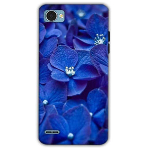 LG Q6 Mobile Covers Cases Blue flower - Lowest Price - Paybydaddy.com