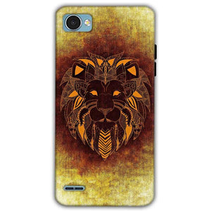 LG Q6 Mobile Covers Cases Lion face art - Lowest Price - Paybydaddy.com