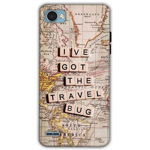 LG Q6 Mobile Covers Cases Live Travel Bug - Lowest Price - Paybydaddy.com
