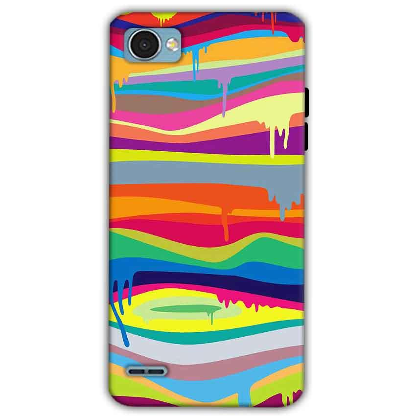 LG Q6 Mobile Covers Cases Melted colours - Lowest Price - Paybydaddy.com